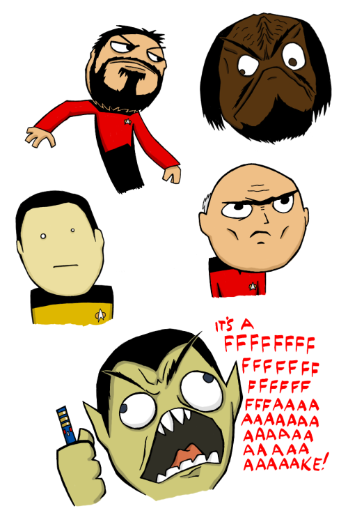 Redditor Snailboy made some Star Trek ragefaces that will blow your mind. Give him your upvotes; you'll be glad you did.