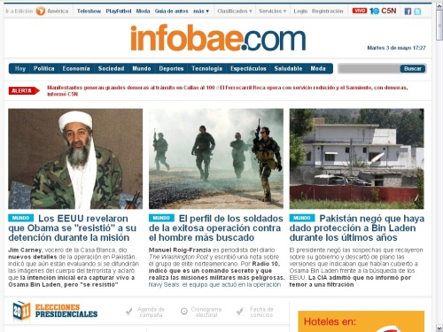 Fail en Español. Colocaron Obama en vez de Osama. Fail in Spanish. Obama instead of Osama.