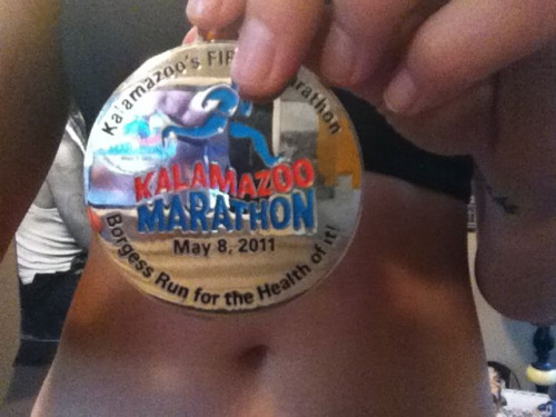 GPOY - check out my sweet medal (and my belly button) edition