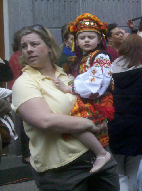 Toddler at the Ukrainian Street Fair, E. 7th St., NYC