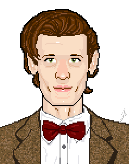 Workin' on another pixel portrait.  ʕ •ᴥ•ʔOnly one of you knows who it is though. tee-hee ~secrets~