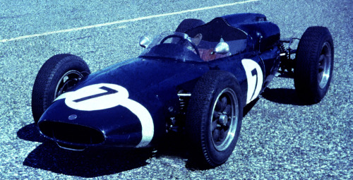 1958 Teretonga NZ Grand Prix series.Found film slide.Photographer unknown. Attended by all world famous drivers at that time.