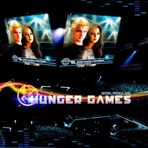 "District 12 Tributes: Katniss Everdeen and Peeta Mellark, ""Star-crossed Lovers"""