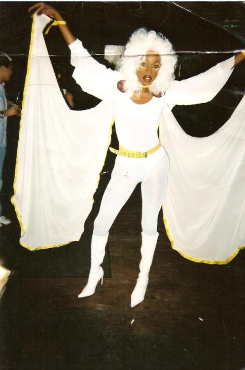 When RuPaul dresses as Storm, we all win. (Although the comics nerd in me — which is, really, all of me — wishes it had been any other costume. Mohawk Storm would've been bad-ass.) Edit: Apparently this was not RuPaul after all.