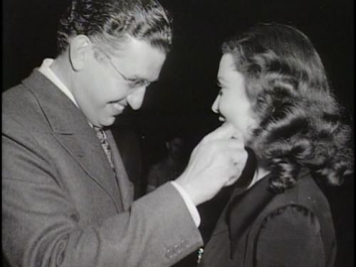 David O. Selznick and Vivien Leigh at the Gone with the Wind wrap party in June 1939