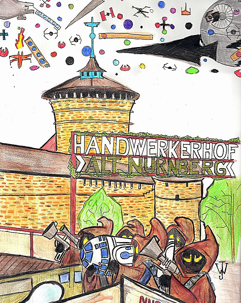 What really goes on @Handwerkerhof in Alt #Nuernberg, Germany.  Prints are available on deviantArt here.