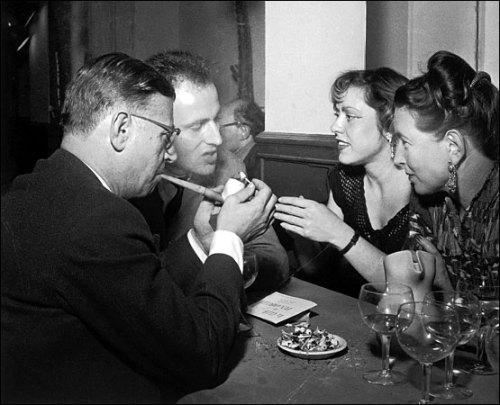 Boris Vian, Simone de Beauvoir and Paul Sartre