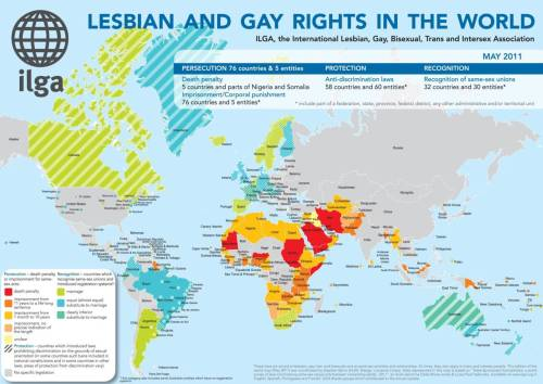 Lesbian and Gay Rights in the World [INFOGRAPHIC]