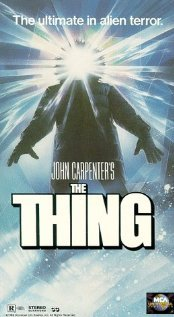 "The Thing (1982) Director: John Carpenter Writers: John W. Campbell Jr. (story),  Bill Lancaster (screenplay) This is a remake of the 1951 ""The Thing from Another World"", of which I have not seen, and a 2011 remake is now in post production, of which I am not very interested in. In my opinion this is a nearly perfect horror movie, it's score lacks a bit. It's very effectively directed, and creative. And even though my eyes have seen incredible CGI, this is probably an unpopular opinion, but I much prefer, and appreciate more, the special effects used in movies like this. ""Aliens"" is another great example of non-CGI, animatronic/makeup special effects that are amazing.This is now a favorite movie of mine. Quotes: MacReady: Now I'm gonna show you what I already know. Palmer: Childs, it happens all the time, man. They're falling out of the sky like flies. Government knows all about it, right, Mac? (*SPOILER*) MacReady: I know I'm human. And if you were all these things, then you'd just  attack me right now, so some of you are still human. This thing doesn't  want to show itself, it wants to hide inside an imitation. It'll fight  if it has to, but it's vulnerable out in the open. If it takes us over,  then it has no more enemies, nobody left to kill it. And then it's won."