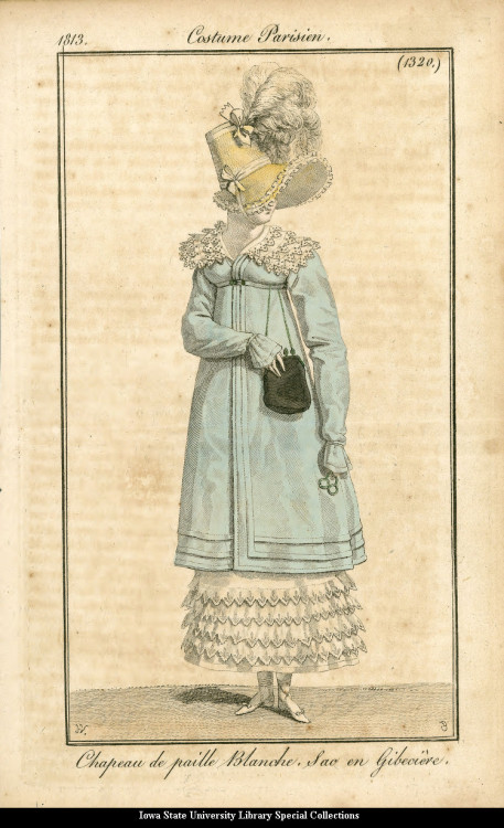 Walking dress, 1813 France, Costume Parisien