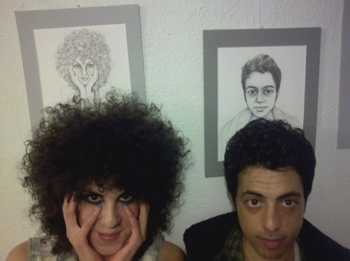 marcellacomedy:  The Comedy Gallery!  Marcello Arguello and Sammy Obeid by. Leslie Winchester  [Original Marcello and Sammy by. their parents]