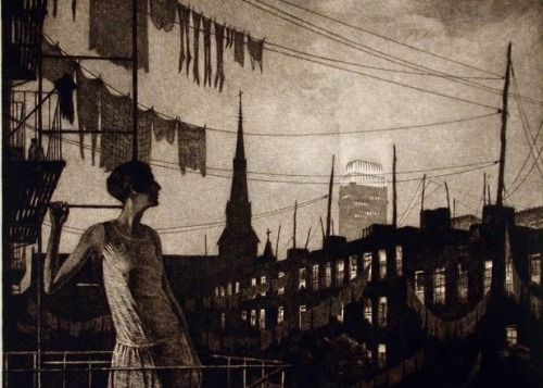 noonesnemesis:  Glow Of the City by Martin Lewis, 1929
