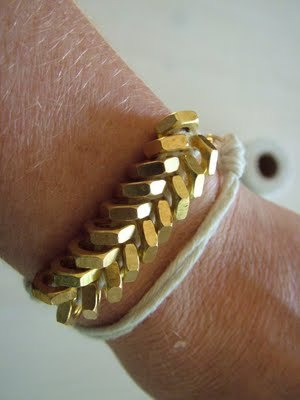 Amy over at {Green Eggs Ham} guest posted with a braided Hex Nut bracelet really creative head over to {Crazy Wonderful} for the how-to!