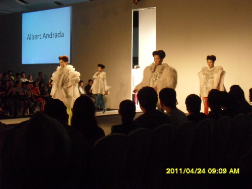 Albert Andrada at the #philfashionweek Holiday 2011! I'd say its one of the best collections from the Grand Allure show.