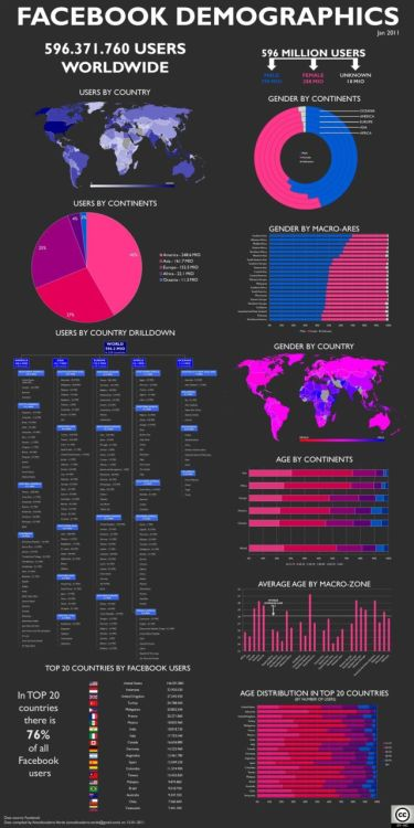 Facebook Demographics by Amodiovalerio Verde
