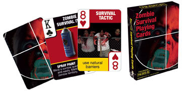 Zombie Survival Tips Playing Cards