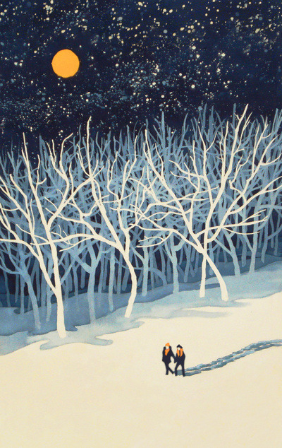darksilenceinsuburbia:  Paul Sheaffer. If On A Winter's Night Young Lover's…