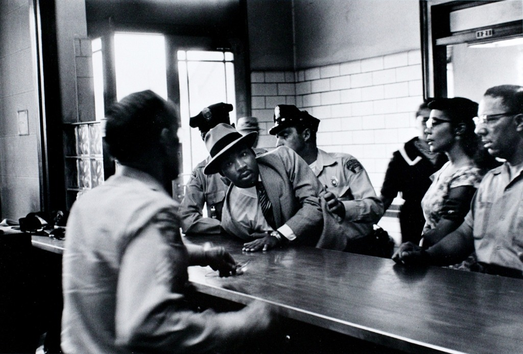 "Charles Moore ""Martin Luther King, Jr. Arrested"" (Montgomery, Alabama, 1958)"