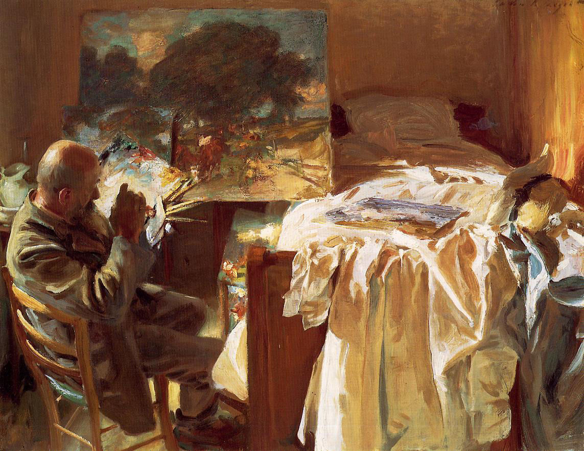 paperimages:  John Singer Sargent,  An artist in his studio