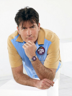 @charliesheen rocks a lux @ffffuckit watch and classic button. #winning