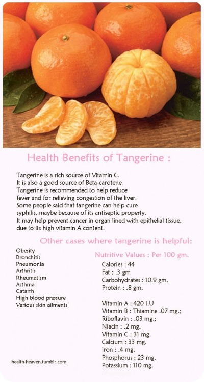 Health Benefits of Tangerine :)