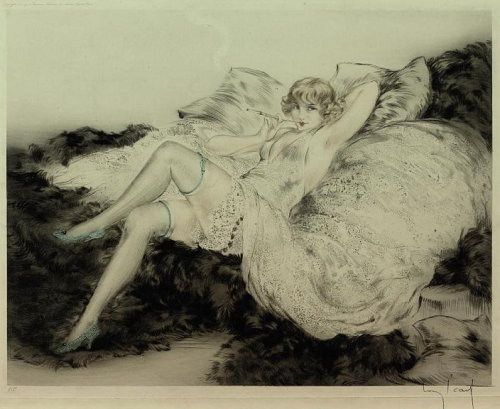 """White Underwear"" by Louis Icart - 1925"