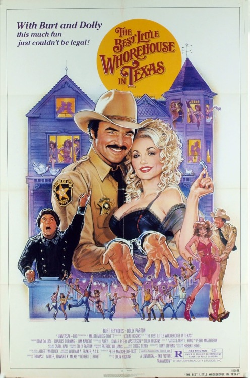 Poster for the movie The Best Little Whorehouse in Texas