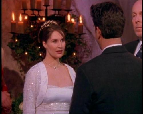 FRIENDS 30 DAY CHALLENGE | Day Three | Least Favorite Character: Emily Waltham  I won't even bother making a graphic for her, because that's how much I hate this character.  To put it politely, she was a shrewd wench.  I loathed her so much.  She was mean, controlling, and horrible. I am so glad she was only on for about half a season.  The ONLY good that came from her was the one of the most nail-biting, mind blowing, cliff hangers in television history. Yes, I hate her more than Janice ^.^