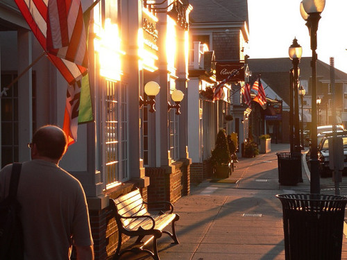 janellelangan:  Main St., Falmouth MA by oefe [now at ipernity] on Flickr. Janelle Langan Posted:Falmouth, MA. Takes me back to when we spent summers on Cape Cod when I was younger.   Falmouth reminds me of skipping school and walking here and just having a blast with Brett, Joey, and other friends. I miss this so much.