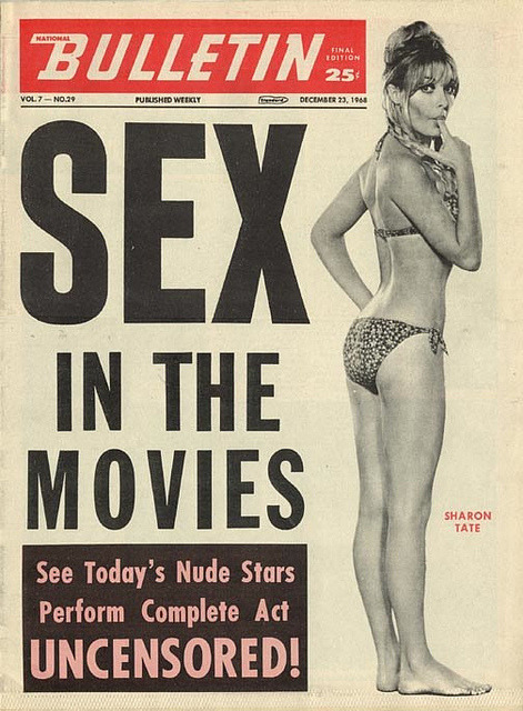 Sharon Tate - Sex in the Movies - Bulletin by gwenboul on Flickr.