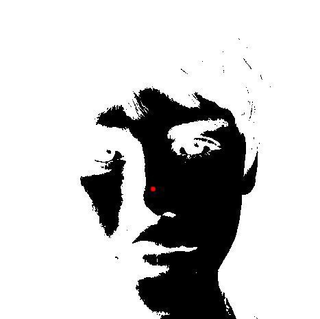 justindrewourhero:  Watch the red dot for 30 seconds. Then stare at your wall and blink really fast.