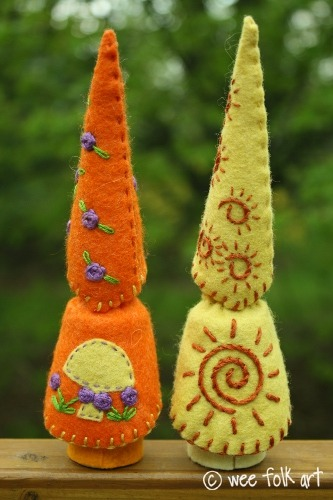 (via Large Gnomes for Little Hands - Part 2 | Wee Folk Art)