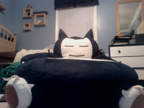 luisitoloves:  dork-sided:     jealous? custom made. its tempurpedic   SO jealous ;___;   I would call him Squishy, and he would be mine!