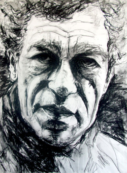 "Giacometti approx 32x24"" Charcoal on paper [nfs]"