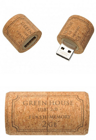 The Green-House Cork USB. I want one immediately.