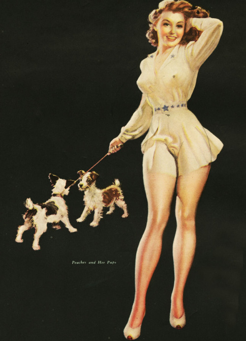 """Peaches and Her Pups"" 1937"