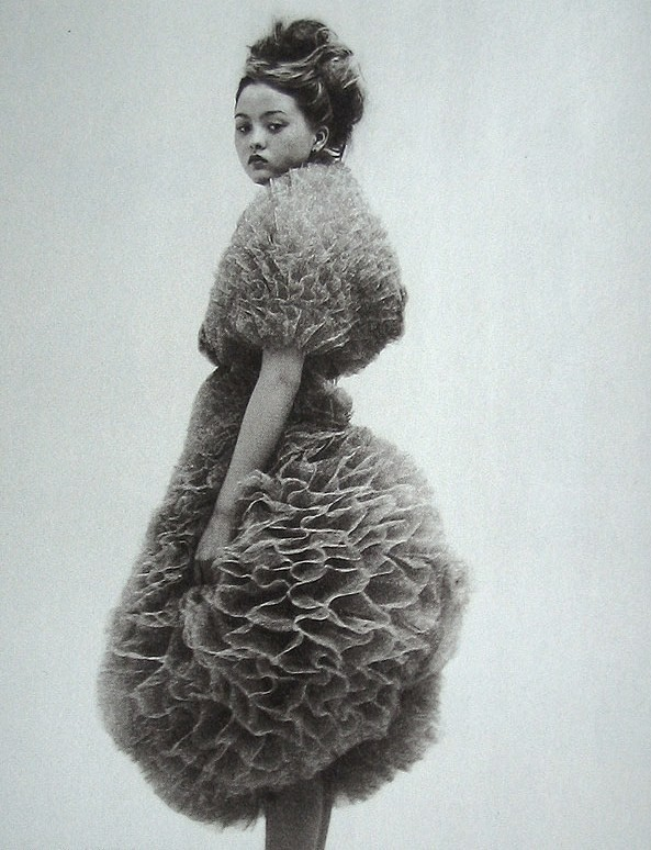 Tulle gone honeycombed! Devon Aoki in Nylon Magazine 2000 by Nick Haymes via  moldavia: