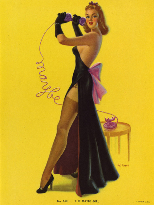 """The Maybe Girl"" by Art Frahm 1940's"