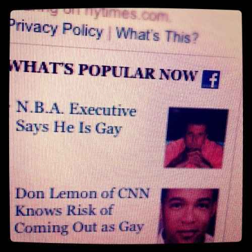 ohmykevin:  NYTimes.com is the new People magazine.  Wow. The New York Times is all over stories like these tonight.
