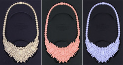 Ek Thongprasert's line of gemstone necklaces made out of SILICONE! want every color but they are all sold out!