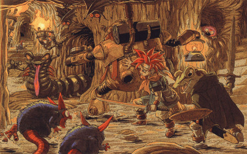 Chrono Trigger. Battle Concept Art. (for: dirkbolero)