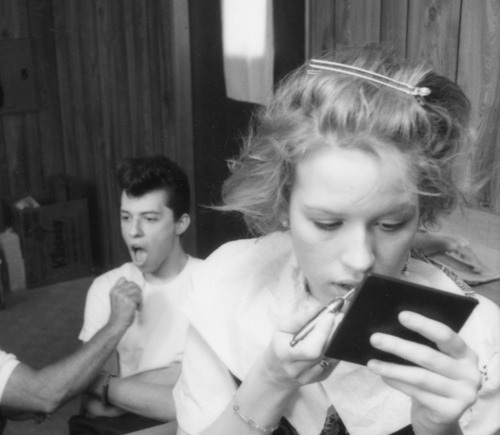 cinematic-adventures:  Molly Ringwald & Jon Cryer on the set of Pretty in Pink   <3
