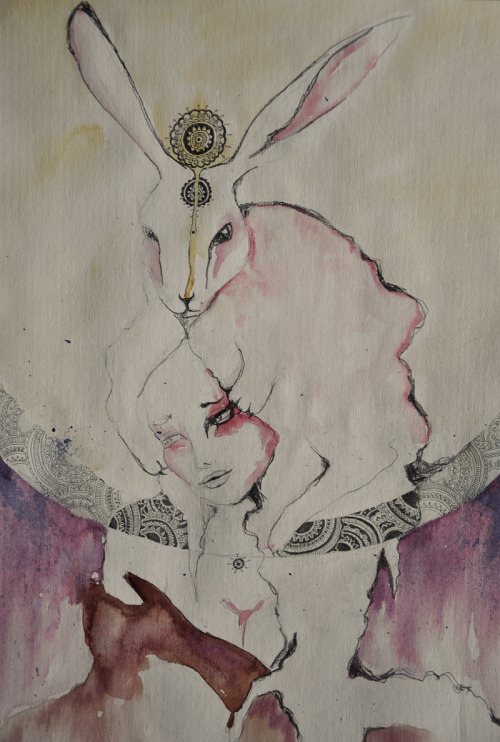 Water color+ graphite, Lepus, 2011