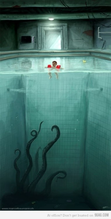 Mmm… tiny swimming child. #horsdoeuvres