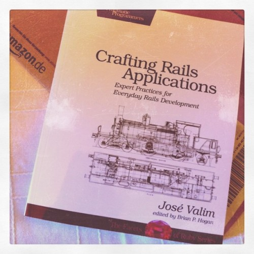 Crafting Rails Applications finally arrived (Taken with instagram)