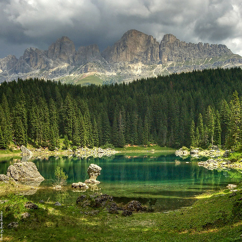 Carezza Lake, Dolomites, Italy  (by anbri22 listen)