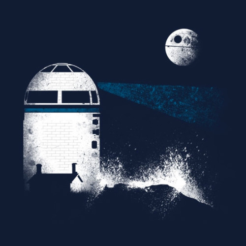 justinrampage:  R2-D2 helps to guide the Rebel fleet to safety in this reprinted Threadless shirt on sale by Andy Farrell!