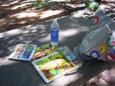 Spent Sunday in the Park with my oil pastels & my iPod! I love being outside on a gorgeous day!