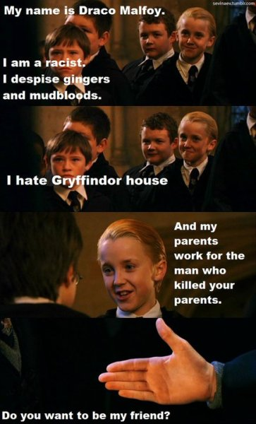 BUT WE STILL LOVE YOU, DRACO.  REBLOG de alwaysyourhero.tumblr.com
