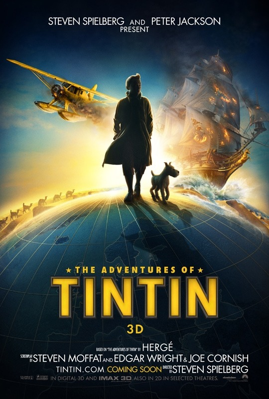 Cartel | The Adventures of Tin Tin | Woah! no sabía de este proyecto! | Reblogged From >  danhacker:  The Teaser Poster For Steven Spielberg & Peter Jackson's 'The Adventures Of Tintin: The Secret Of The Unicorn' Empire has debut the first teaser poster for the upcoming Steven Spielberg & Peter Jackson CG motion-captured animated film 'The Adventures Of Tintin: The Secret Of The Unicorn'. The voice & motion-capture cast includes Jamie Bell, Andy Serkis, Daniel Craig, Cary Elwes, Simon Pegg and Nick Frost. 'The Adventures Of Tintin: The Secret Of The Unicorn' hits US theaters on December 23th, 2011. I really like this teaser poster and cant wait to see what the mocap for this film looks like when the trailer hits later this week.